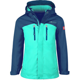 TROLLKIDS Bryggen 3in1 Jacket Kids midnight blue/dark mint